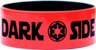 white with black text one inch debossed silicone wristbands