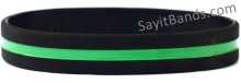 Security Officer Thin Green Line Wristband