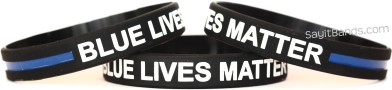 Blue Lives Matter Thin Blue Line Wristband