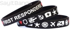 Combination Thin Red and Thin Blue Line Wristband
