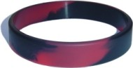 black custom silicone wristband