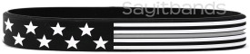 Thin Gray Line Flag Wristbnds USA Bracelets