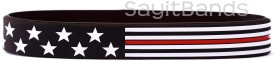 Thin Red Line Flag Wristbands Stars and Stripes Bracelets