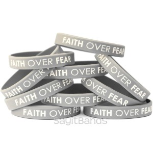 Faith Over Fear Religous Bracelets Bands