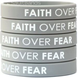 Faith Over Fear Wristband Bracelets