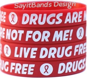 Red Ribbon Week - Say No to Drugs Wristbands