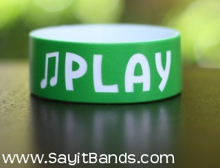 music fundraiser custom silicone wristband