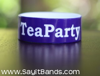 tea party silicone wristband 1""